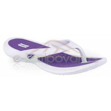 Obuv,oblečení a batohy - Dámské žabky Loap Ennis white/violet