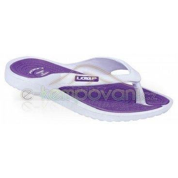 Obuv,oblečení a batohy - Loap dámské sandály DUBLIN bílo-fialové