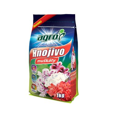 Zahrada - AGRO Organominerální hnojivo muškáty 1 kg