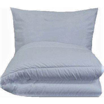Domácnost - Set polštáře a přikrývky - Mikrovlákno 900g (140x200 / 70x90cm)  bílá