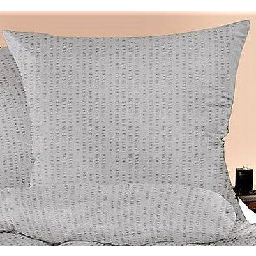 Domácnost - Povlak na polštářek krep 35x45cm-zip (šedé)