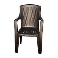Zahradní plastová židle Eden Lux hnědá
