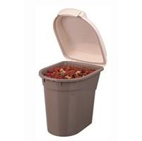 Zásobník na krmivo plast béžová/hnědá 25x25cm TR*