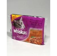 Whiskas kapsa  Menu z 4 druhů masa+ zel+ šť 4x100g
