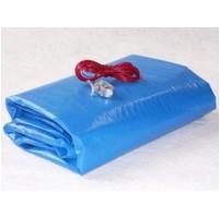 Zazimovací LD-PE tkaná plachta na bazén ovál 7,3 x 3,7 m - fólie 8,5 x 4,8 m
