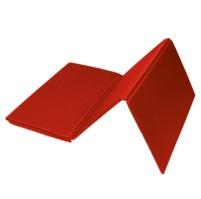 Karimatka jednovrstvá 8  skládací 4D, červená R81, 120x50 cm