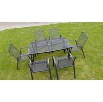 Zahradní kovový set 6 hranatý