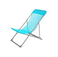 HAPPY GREEN Křesílko plážové skládací CARIBIC 56,5 x 91 x 96 cm, světle modré