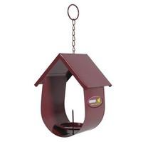 Budka na lojovou kouli pro ptáky kovová bordó Zolux