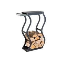 Zásobník na dřevo Zigzag se zásuvkou