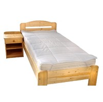 Chránič matrace prošitý s výplní dutého vlákna 70x140cm