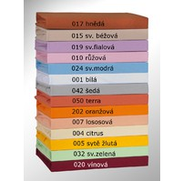 Prodloužené Jersey prostěradlo 80x220cm, Výběr barvy: 020 vínová
