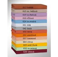 Prodloužené Jersey prostěradlo 100x220cm, Výběr barvy: 020 vínová