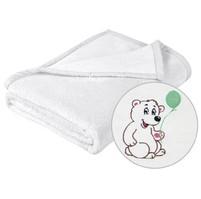 Dětská micro deka 75x100cm bílá s výšivkou
