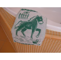 Dětský froté ručník 50x30cm Koník zelený