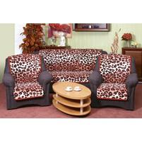 Přehoz na sedací soupravu Karmela 3+1+1 leopard cihlový