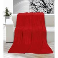 Deka micro jednolůžko 150x200cm červená