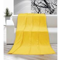 Deka micro jednolůžko 150x200cm žlutá  Skladem 1ks