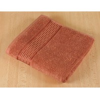 Froté ručník 50x100cm proužek 450g terra