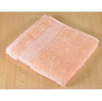 Froté ručník 50x100cm proužek 450g lososová