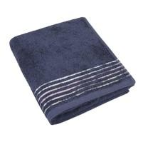 Froté ručník 50x100cm 530g tm.šedá/proužek 6x