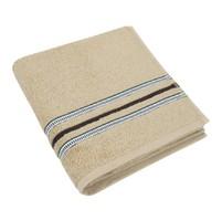 Froté ručník 50x100cm 530g béžová/proužek 3x