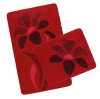 Koupelnová SADA ULTRA 60x100+60x50cm Kytka červená