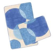 Koupelnová SADA ULTRA 60x100+60x50cm Bubliny modré