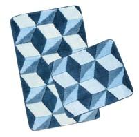 Koupelnová SADA ULTRA 60x100+60x50cm Krychle modré