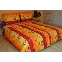 Prodloužené povlečení bavlna 140x220, 70x90cm Kola oranžová Skladem 7ks, Výběr zapínání: zipový uzávěr