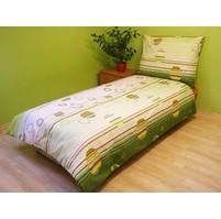 Povlečení bavlna 140x200, 70x90cm Kruhy zelené, Výběr zapínání: zipový uzávěr