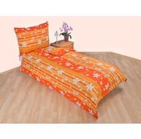 Povlečení bavlna 140x200, 70x90cm Listy oranžové, Výběr zapínání: zipový uzávěr