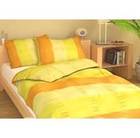 Povlečení francouzské bavlna 240x220,70x90 Duha žlutá Skladem 1ks, Výběr zapínání: zipový uzávěr