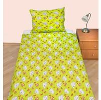 Povlečení dětské bavlna velká postel Slůně zelené, Výběr zapínání: nitěný knoflík