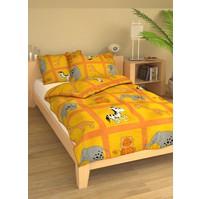 Povlečení dětské bavlna velká postel Safari oranžové, Výběr zapínání: zipový uzávěr