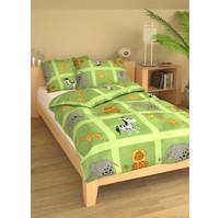 Povlečení dětské bavlna velká postel Safari zelené, Výběr zapínání: nitěný knoflík