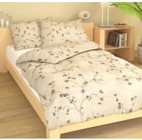 Přehoz přes postel jednolůžkový Drobné kvítky béžové, Výběr rozměru: 140x220cm