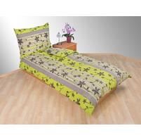 Přehoz přes postel jednolůžkový Listy zelenošedé, Výběr rozměru: 140x220cm