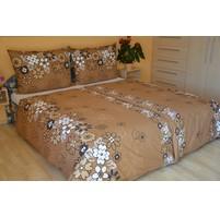 Přehoz přes postel jednolůžkový Louka hnědá, Výběr rozměru: 140x220cm