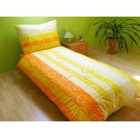 Přehoz přes postel jednolůžkový Bublina oranžová, Výběr rozměru: 140x220cm
