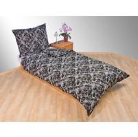 Přehoz přes postel dvoulůžkový Kašmír černý, Výběr rozměru: 240x220cm