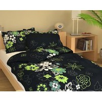 Přehoz přes postel dvoulůžkový Louka černá, Výběr rozměru: 240x220cm