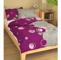 Přehoz přes postel dvoulůžkový Retro fialové, Výběr rozměru: 240x220cm