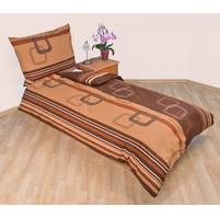 Přehoz přes postel dvoulůžkový Čtverce hnědé, Výběr rozměru: 240x220cm