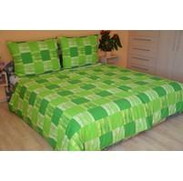 Přehoz přes postel dvoulůžkový Domino zelené, Výběr rozměru: 240x220cm