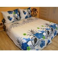 Přehoz přes postel dvoulůžkový Lilie modrá, Výběr rozměru: 240x220cm