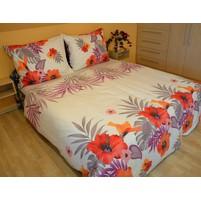 Přehoz přes postel dvoulůžkový Lilie červená, Výběr rozměru: 240x220cm