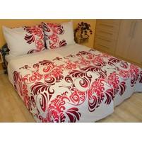 Přehoz přes postel dvoulůžkový Ella růžová, Výběr rozměru: 240x220cm
