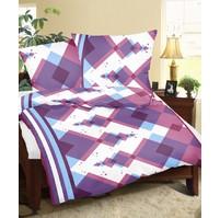 Povlaky flanel Kosočtverce fialové, Výběr rozměru: 45x60