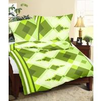 Povlaky flanel Kosočtverce zelené, Výběr rozměru: 45x60
